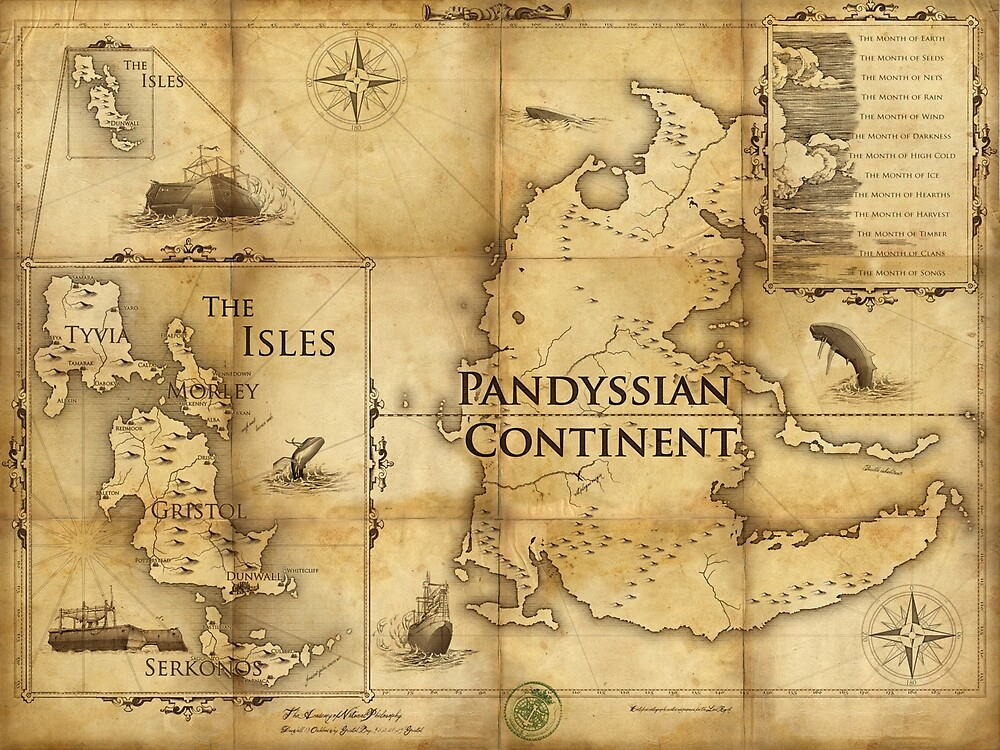 Map of Pandyssia, The Empire of the Isles, and The Months: Dishonored/Dishonored 2 Map by FlameMarshmello