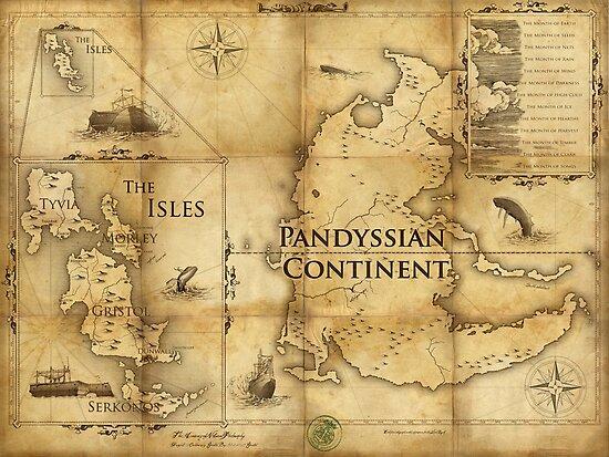 Karte von Pandyssia, Das Reich der Inseln und die Monate: Dishonored / Dishonored 2 Map von FlameMarshmello