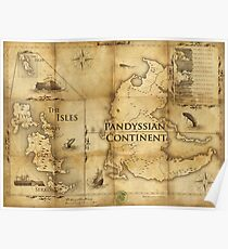 Map of Pandyssia, The Empire of the Isles, and The Months: Dishonored/Dishonored 2 Map Poster