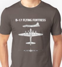 B17 Flying Fortress Aircraft Unisex T-Shirt