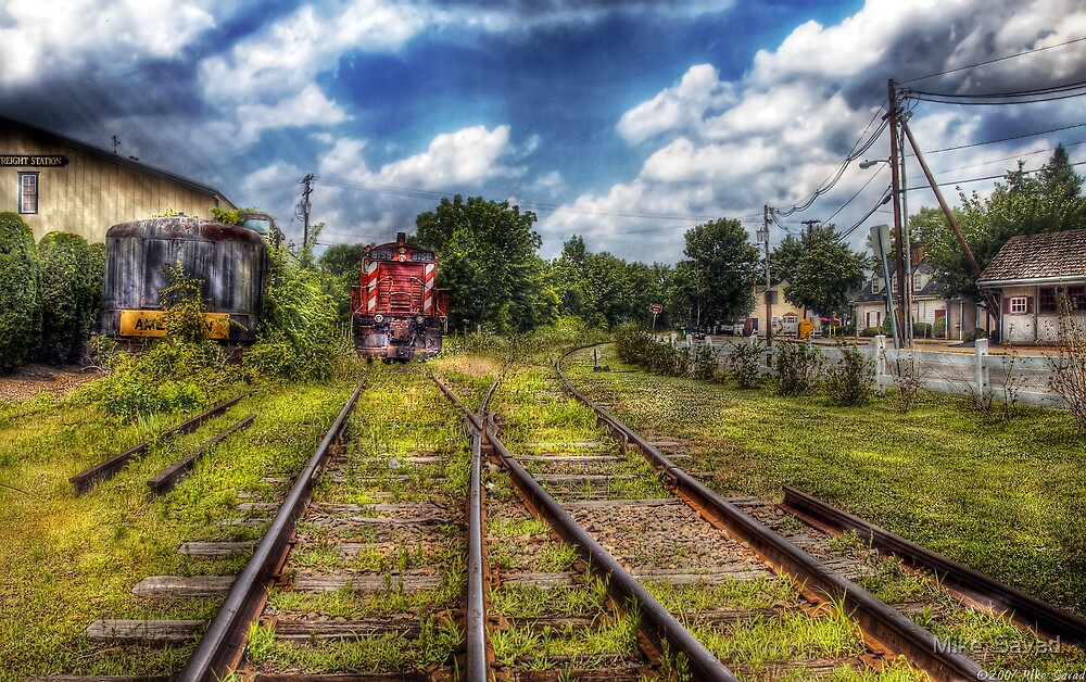 Old abandoned train by Michael Savad