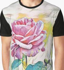 pink rose art Graphic T-Shirt