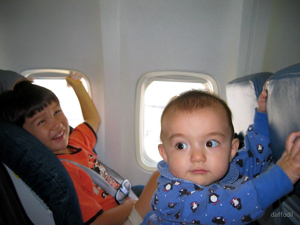 Children in the plane by daffodil