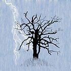 Knorriger Baum und Blitz von melasdesign