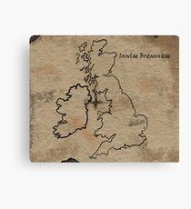 Insulae Britannicae Canvas Print
