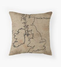 Insulae Britannicae Throw Pillow