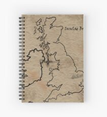 Insulae Britannicae Spiral Notebook