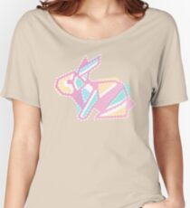 Pastel Pink Anigami Bunny Women's Relaxed Fit T-Shirt