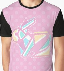 Pastel Pink Anigami Bunny Graphic T-Shirt