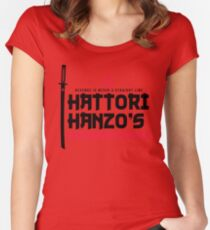 Japanese Steel Dark Version Women's Fitted Scoop T-Shirt