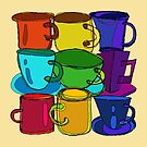 Tea Cups and Coffee Mugs Spectrum by melasdesign