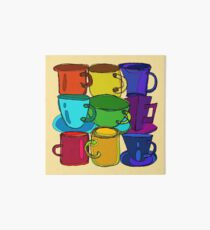 Tea Cups and Coffee Mugs Spectrum Art Board Print