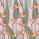 Bird of paradise - pink by youdesignme