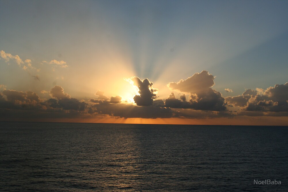 Sunset from a cruise ship. by NoelBaba