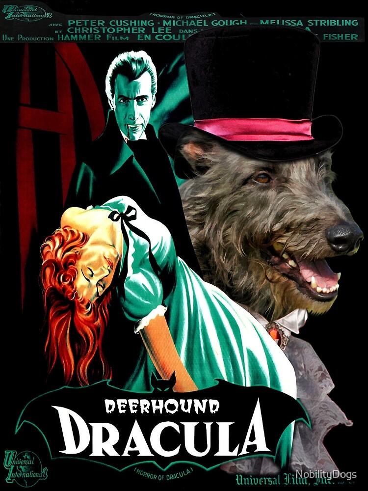 Scottish Deerhound Art - Dracula Movie Poster by NobilityDogs