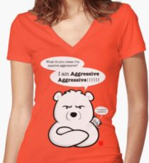 Aggressive Aggressive Women's Fitted V-Neck T-Shirt