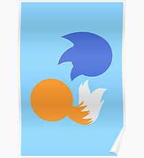 Sonic and Tails (blue) Poster