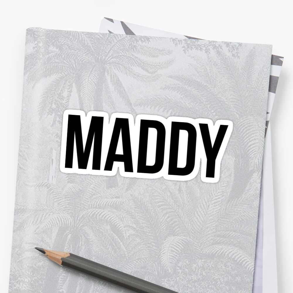 Maddy Sticker Front