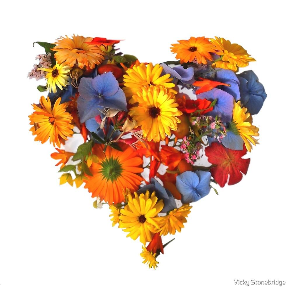 Flower Power- Heart by Vicky Stonebridge