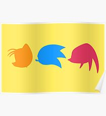 Sonic, Knuckles and Tails (yellow) Poster