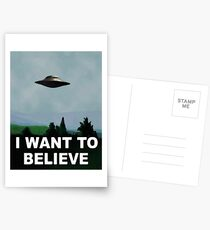The X Files - I want to believe  Postcards