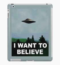 The X Files - I want to believe  iPad Case/Skin