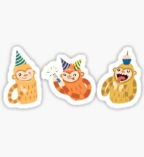 Birthday Party Slothmonkeys Sticker