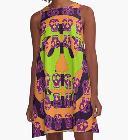 Skulls In Your Face A-Line Dress