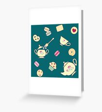 TeaTime Green Greeting Card