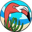 Turquoise Flamingo by elledeegee