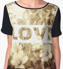 Flowers And Love Chiffon Top