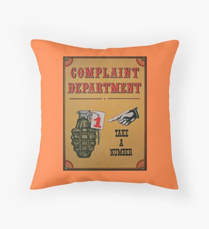 Take A Number Throw Pillow