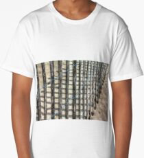Snow Fence on Beach Long T-Shirt
