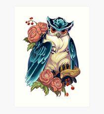 Irezumi Owl 002-001 Art Print