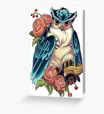 Irezumi Owl 002-001 Greeting Card