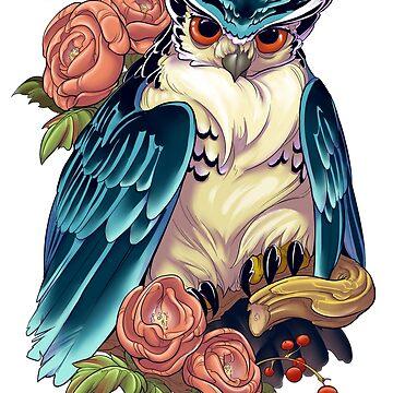Irezumi Owl 002-001 by fydbac