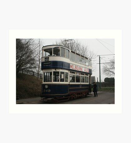 Leeds Tramcar No 345 Art Print