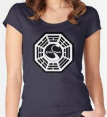 Dharma Initiative - The Swan Station Logo (Lost TV Show) Women's Fitted Scoop T-Shirt