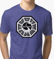 Dharma Initiative - The Swan Station Logo (Lost TV Show) Tri-blend T-Shirt