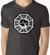Dharma Initiative - The Swan Station Logo (Lost TV Show) Men's V-Neck T-Shirt