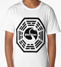 Dharma Initiative - The Swan Station Logo (Lost TV Show) Long T-Shirt