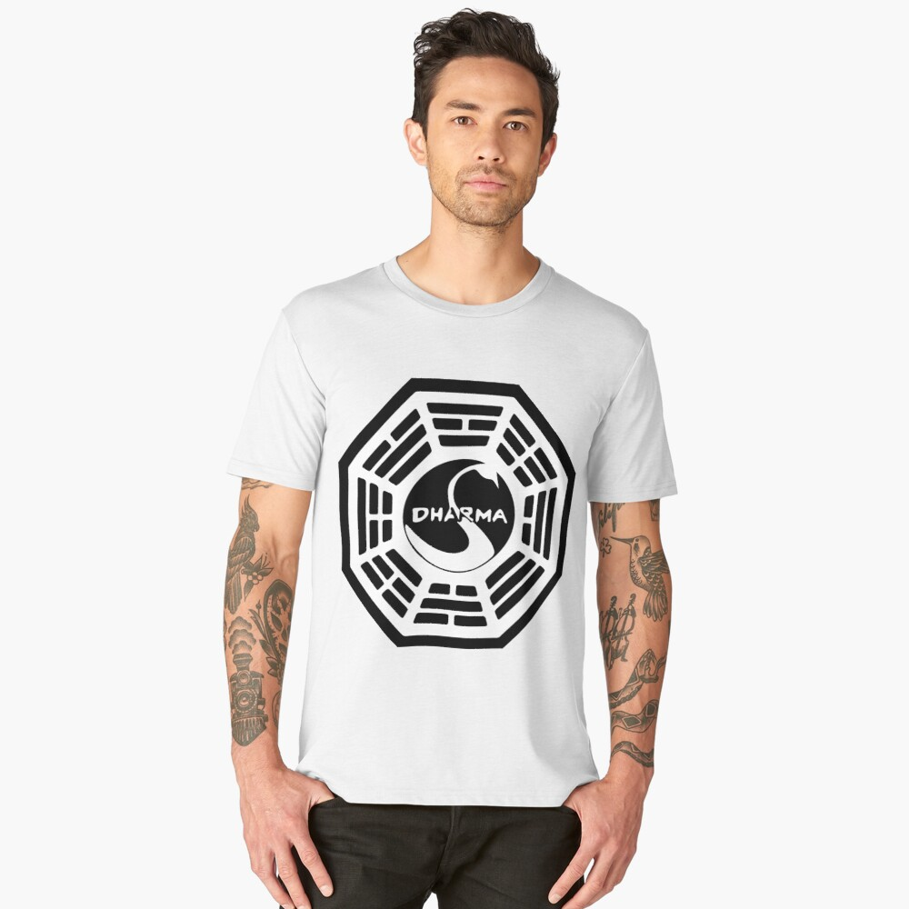 Dharma Initiative - The Swan Station Logo (Lost TV Show) Men's Premium T-Shirt Front