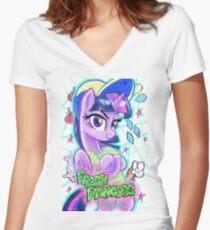 Fresh Princess of Friendship Women's Fitted V-Neck T-Shirt
