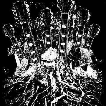 Guitar Graveyard by BrettHole