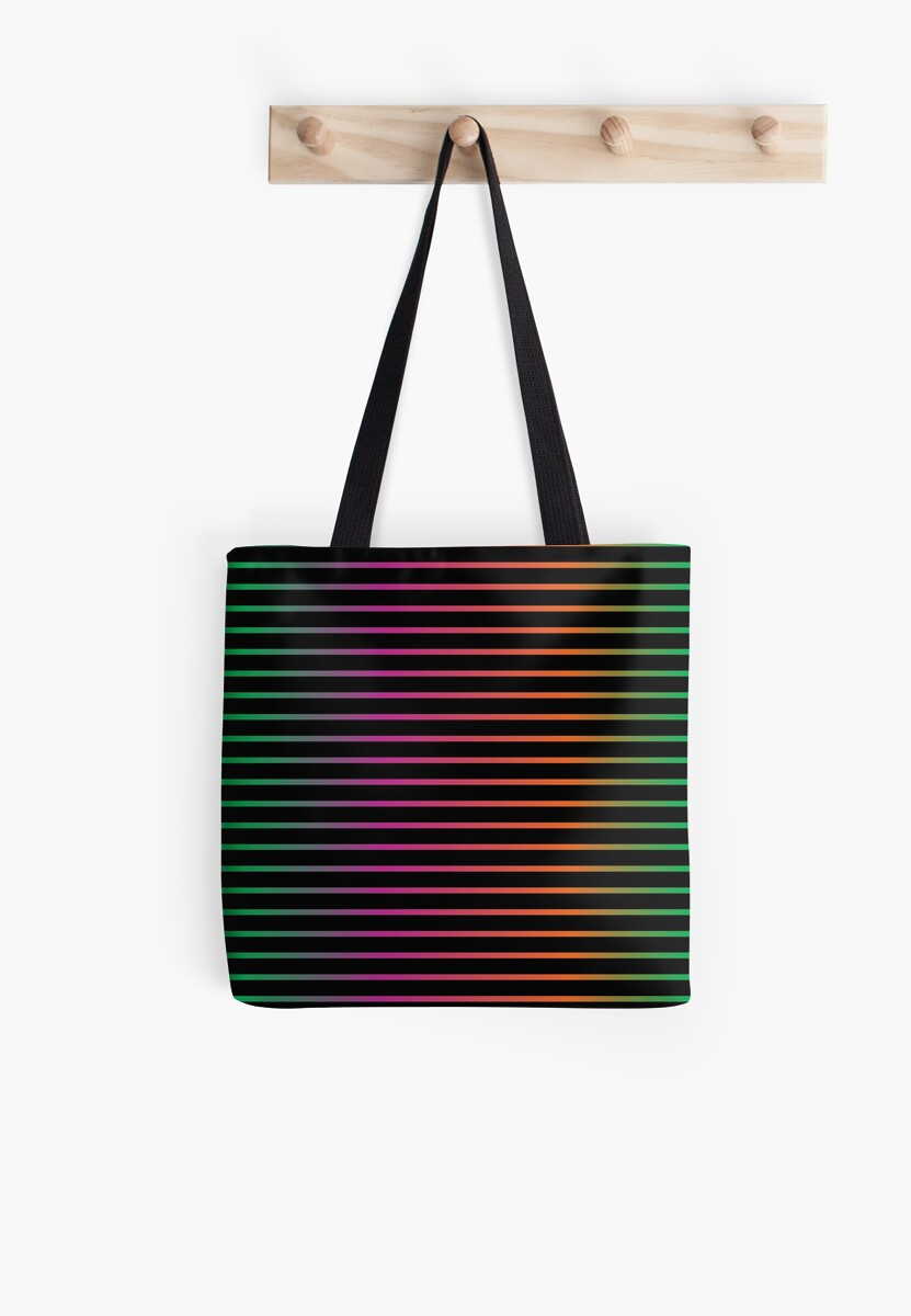Thin Stripes | Neon Rainbow Variant by thepinecones