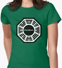 Dharma Initiative Logo (Lost TV Show) Womens Fitted T-Shirt