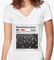 Kendrick Lamar - Damn Vintage Album Cover Edit Women's Fitted V-Neck T-Shirt