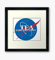 NASA - Tea. Early Grey. Hot. Framed Print