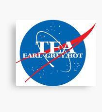 NASA - Tea. Early Grey. Hot. Canvas Print