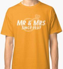 Mr & Mrs Since 1957 - 60th Wedding Anniversary Gift Ideas Classic T-Shirt